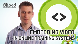 Benefits of embedding video in online training systems
