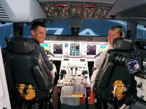 Alex on flight simulator
